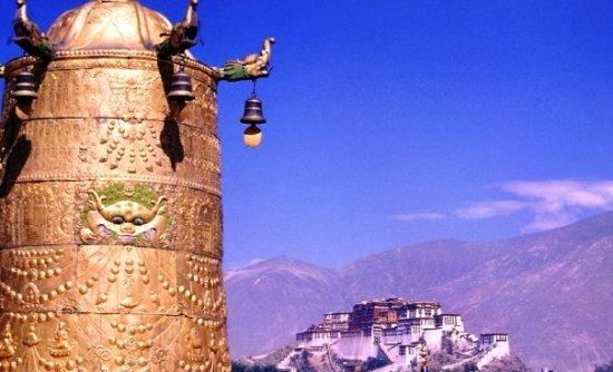 View of Potala Palace in Lhasa Tibet
