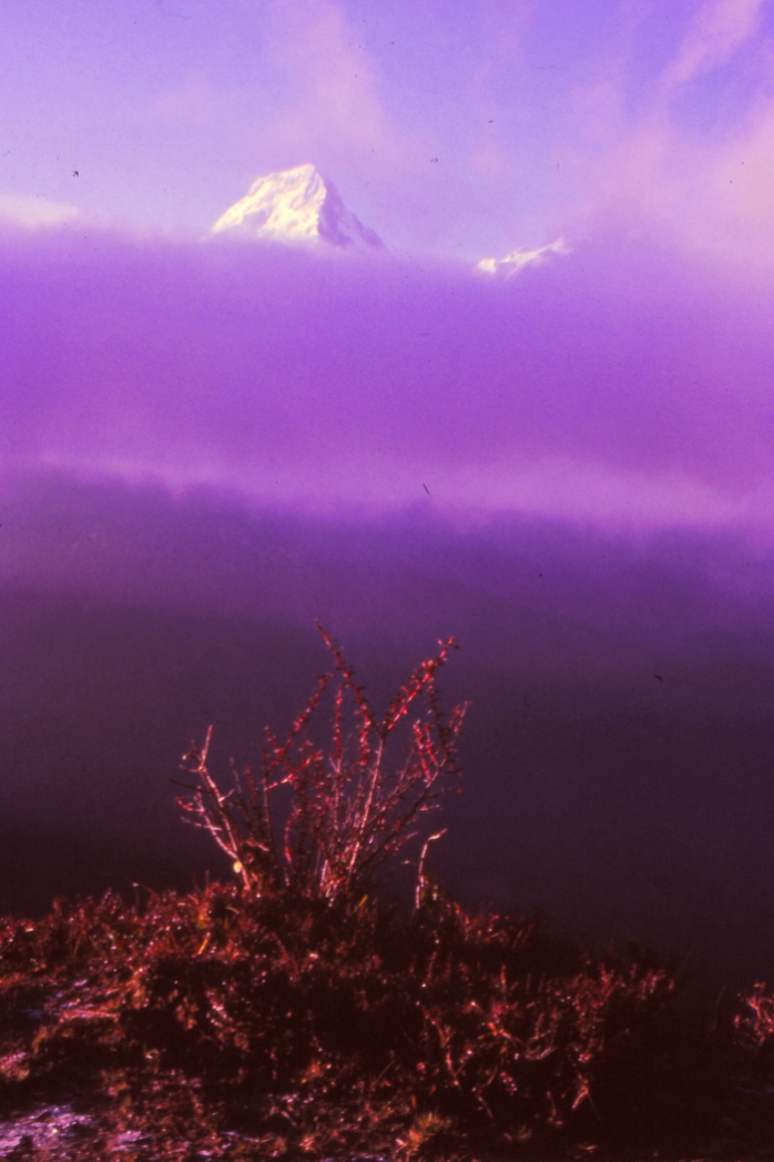 Sunrise over the Annapurna Himalaya, Nepal 1985