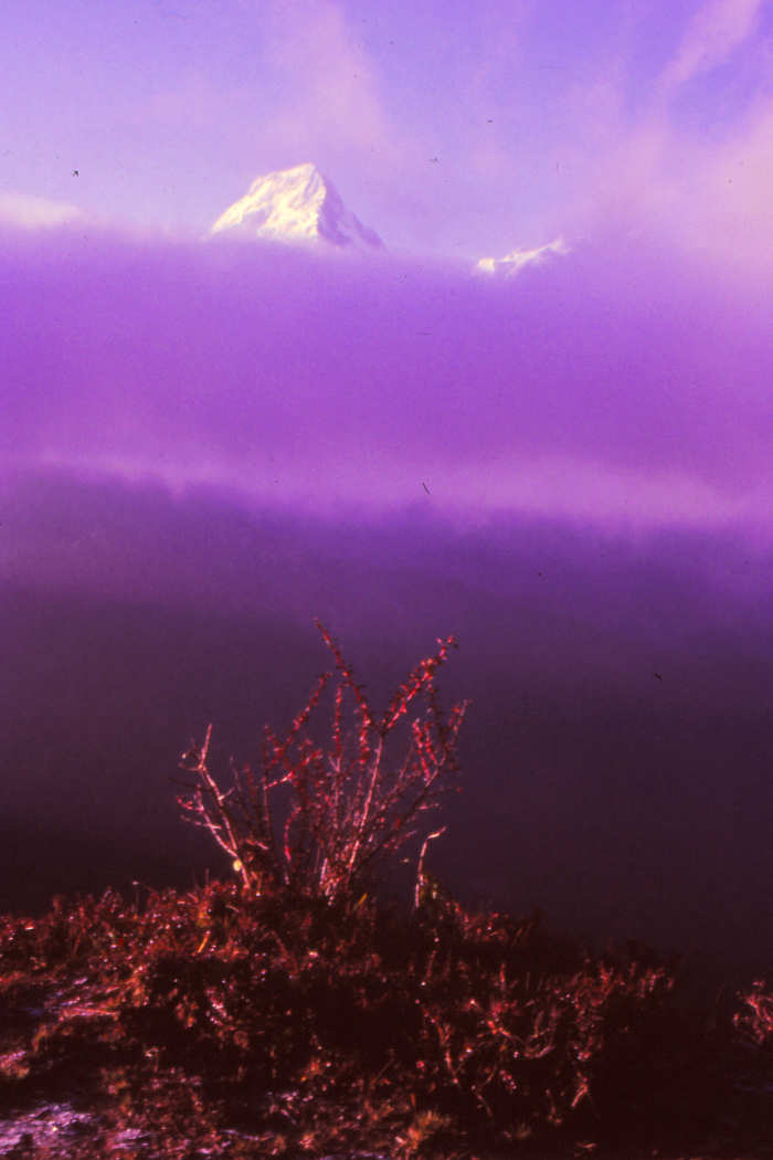 Sunrise over the Annapurna Himalaya, Nepal 1985