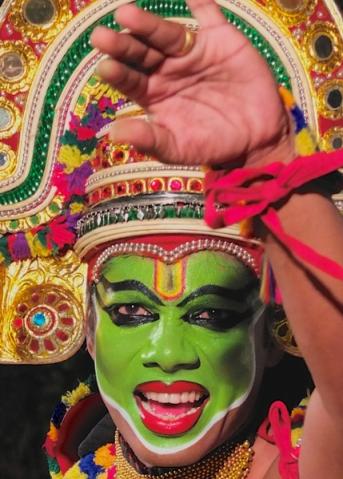Ottamthullal Dancer, Kerala, India
