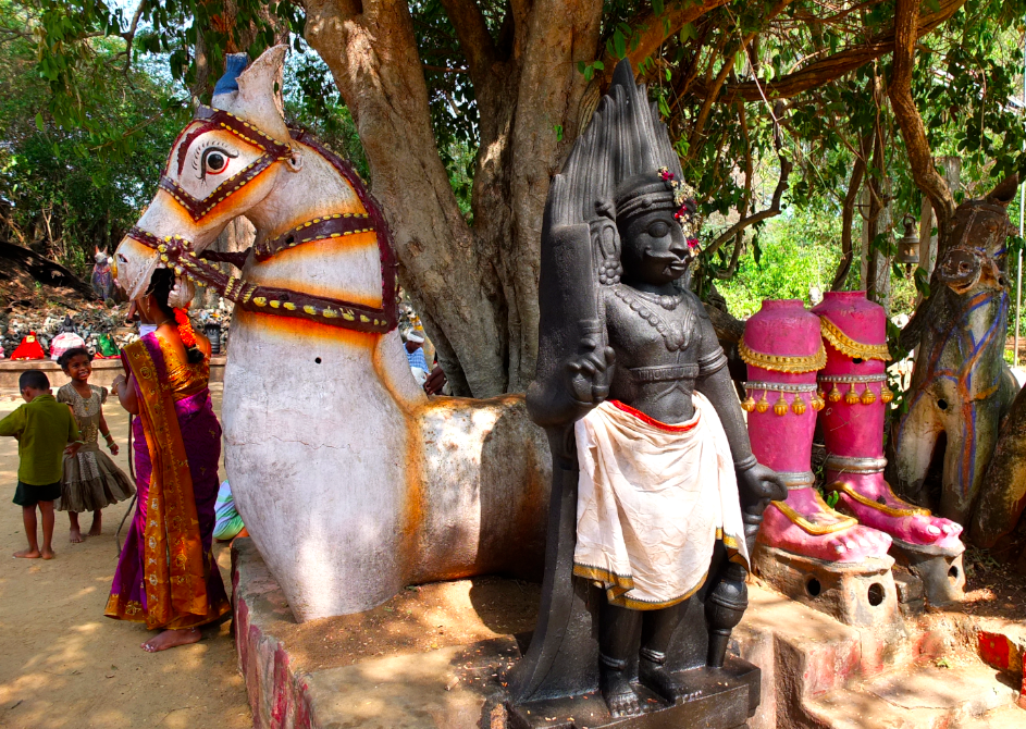 Ayyanar horse Temple, Kandukathan, Tamil Nadu, India