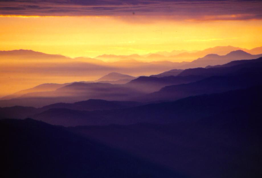 Sunrise over the Himalaya, Nepal 1985