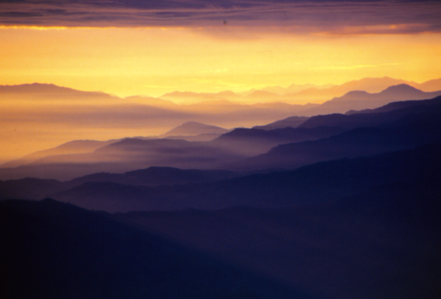Sunrise over the Himalaya, Nepal 1985