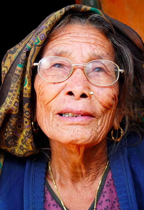 old lady Nepal
