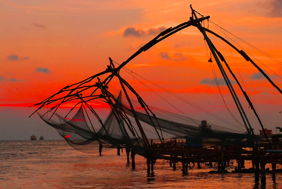 Sunset at Kochi Harbour