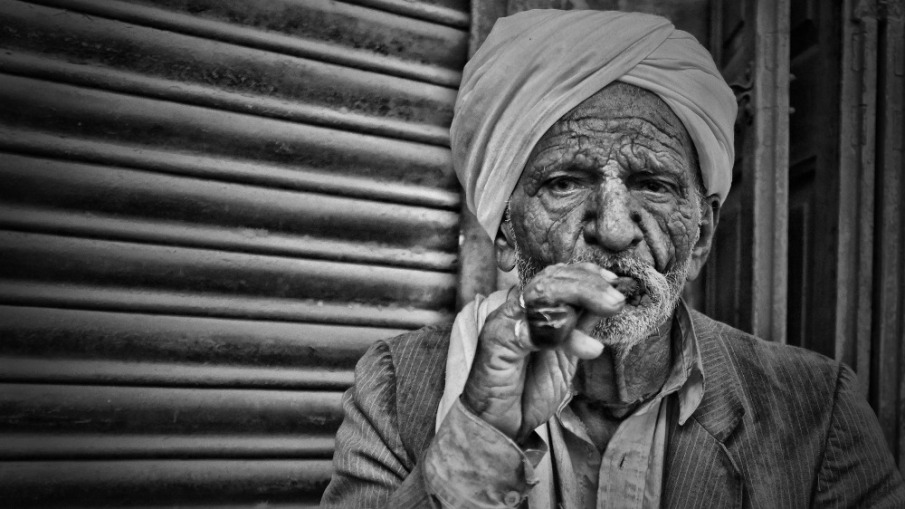 Old man and modern times