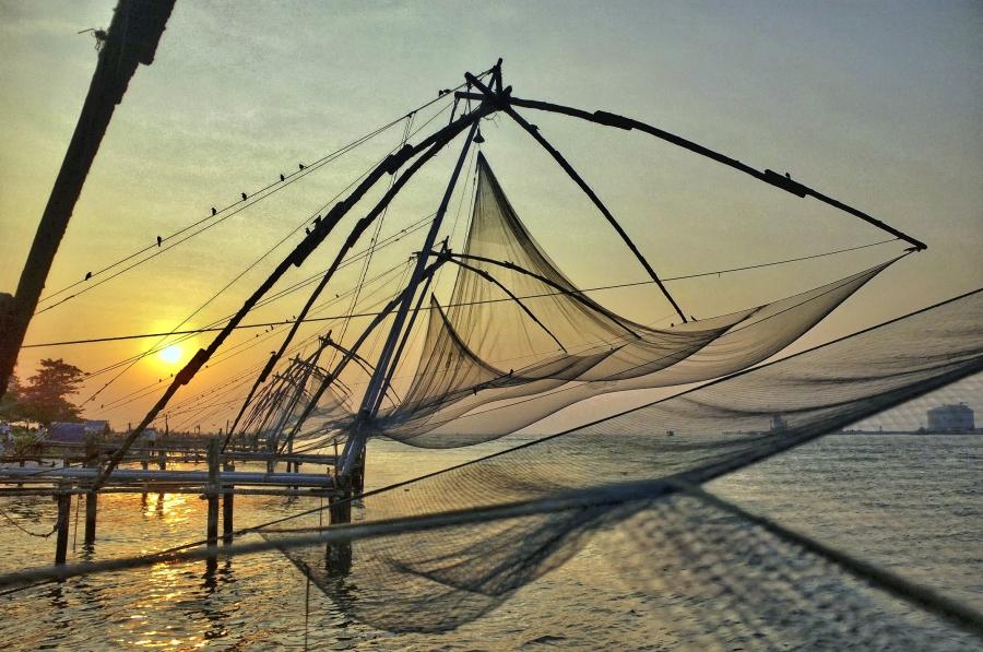 Chinese fishing nets in Kochi