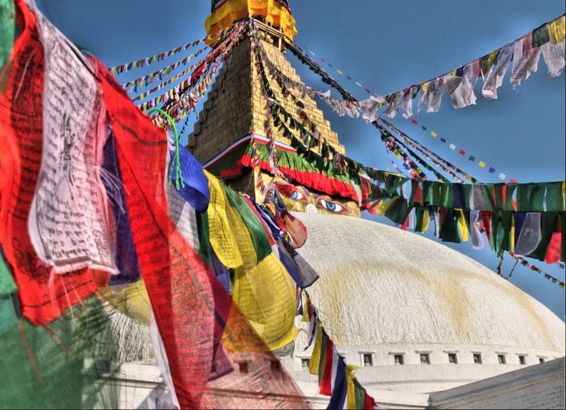 The Bodnath Stupa in Nepal